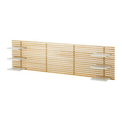 MANDAL Wall-mounted headboard - Wall-mounted headboard, birch, white
