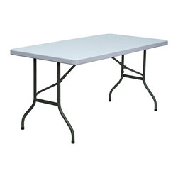 Flash Furniture - Flash Furniture Blow Molded Folding Table in White - Flash Furniture - Folding Tables - DADYCZ152GG - This incredibly valued Folding Table is durable for commercial and home use. This multi-purpose table can be used in hotels, banquet rooms, training rooms and seminar settings. Setup this table in a SNAP, and then Store it Virtually Anywhere! [DAD-YCZ-152-GG]