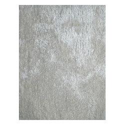 Rug - ~2 ft. x 3 ft. Living Room White Door Mat, Made In Tibet, Shaggy & Hand-tufted - Living Room Hand-tufted Shaggy Area Rug Door Mat