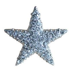 DaRosa Creations - Crystal Starfish Drawer Knobs - Crystal Starfish Drawer Knobs - Cabinet Pulls in Silver Metal