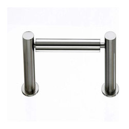 Top Knobs - Top Knobs: Hopewell Bath Tissue Holder - Brushed Satin Nickel - Top Knobs: Hopewell Bath Tissue Holder - Brushed Satin Nickel