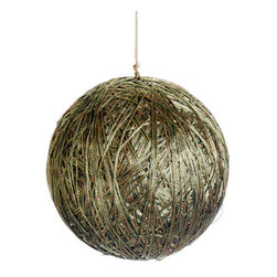 Silk Plants Direct - Silk Plants Direct Metallic Yarn Ball Ornament (Pack of 3) - Gold - Silk Plants Direct specializes in manufacturing, design and supply of the most life-like, premium quality artificial plants, trees, flowers, arrangements, topiaries and containers for home, office and commercial use. Our Metallic Yarn Ball Ornament includes the following: