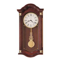 Howard Miller Wall Clock - Howard Miller Dual Chime Cherry Wood Wall Clock | LAMBOURN - 620220 Lambourn