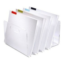 Russell + Hazel - Russell + Hazel Acrylic File Collator - Bring a clean, modern look to your workspace with our clear acrylic collator from russell + hazel. Keeps files clearly visible, yet stylishly organized. Just because you've got piles of work doesn't mean you should literally have piles of work.