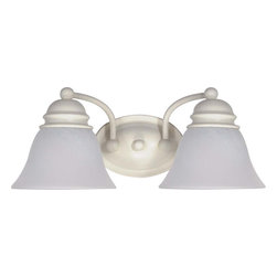"Nuvo Lighting - Nuvo Lighting 60-353 Empire 2-Light 15"" Vanity with Alabaster Glass Bell Shade - Nuvo Lighting 60-353 Empire 2-Light 15"" Vanity with Alabaster Glass Bell Shades"