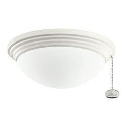 Kichler Lighting - Kichler Lighting Satin Natural White Outdoor Ceiling Fan Light Kit X-WNS209083 - Kichler Lighting Satin Natural White Outdoor Ceiling Fan Light Kit X-WNS209083