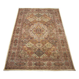 "ALRUG - Handmade Multi-colored Persian Bakhtiar Rug 6' 10"" x 10' 2"" (ft) - This Pakistani Bakhtiar design rug is hand-knotted with Wool on Cotton."