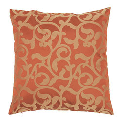 Surya - Jacquard Crank 18x18 Down Pillow - This decorative pillow is perfect for livening up any couch or bed. Add a unique and elegant style to your home decor with this 'Crank' Down pillow.