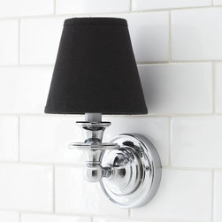 Nash Candlestick Sconce Base - For me this one is best used in a bathroom.  A much better option to have two of these flanking your mirror than ugly builder grade overhead lighting.