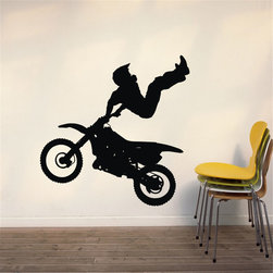 ColorfulHall Co., LTD - Decals For Walls Extreme Sport Wall Decals Motorcycle Race Drivin Stunt Driver - Decals for Walls Extreme Sport wall decals motorcycle Race Drivin Stunt Driver