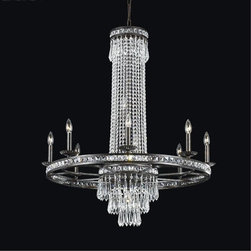 Crystorama - Crystorama-5268-Mercer - Eight Light Chandelier - Our Mercer collection has all the angles covered. It is stunning no matter how you look at it. The metal work is as beautiful as the waterfall of crystal beads and faceted jewels that adorn it. From below, the metal forms a floral design, like something you might see in a stained glass window.