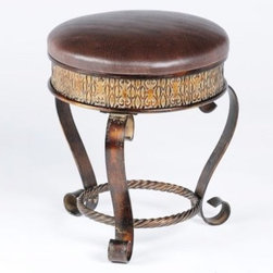 Hilton Vanity Stool - The Hilton Vanity Stool is the perfect height for sitting on at a vanity or dressing table.  Use it in the bathroom for sitting while drying off or getting dressed and when finished, just tuck it into a corner or under a vanity until it's next needed.