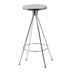 Euro Style - Caroline Swivel Counter Stool (Set Of 2) - If you would like to add real elegance to your space, start here. The four-legged bases with circular footrests are as delicate to look at as they are sturdy. We pride ourselves on finding things that simply cannot be improved. The Caroline stools are at the head of the class.