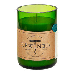 Rewined Candles Riesling Scented Candle - A must-have for wine lovers: The Rewined candles come in recycled, cut-off wine bottles. They're perfect while enjoying a glass of wine at home.