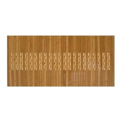 "Anji Mountain - Bamboo Floor Mat: Light Brown 20"" x 72"" Kitchen and Bath - Shop for Flooring at The Home Depot. Bamboo mats have been a traditional floor covering in the Far East for centuries. They add a touch of organic, practical elegance to any space. Our Bamboo Kitchen and Bath Mat is made of the finest quality, sustainably harvested bamboo in the world for supreme durability. It's intricate design and glossy finish make it an especially appealing option to use in front of a bathroom or kitchen sink."