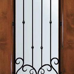 "Slab Single Door 80 Wood Alder valencia 1 Panel 3/4 Lite Wrought Iron - SKU#E08662WV-GBrandGlassCraftDoor TypeExteriorManufacturer Collection3/4 Lite Entry DoorsDoor ModelvalenciaDoor MaterialWoodWoodgrainKnotty AlderVeneerPrice945Door Size Options  +$percent  +$percentCore TypeDoor StyleDoor Lite Style3/4 LiteDoor Panel Style1 PanelHome Style MatchingDoor ConstructionEstanciaPrehanging OptionsSlabPrehung ConfigurationSingle DoorDoor Thickness (Inches)1.75Glass Thickness (Inches)Glass TypeDouble GlazedGlass CamingGlass FeaturesLow-E , TemperedGlass StyleGlass TextureWater , Flemish , Baroque , Fluted , Rain , Glue Chip , ClearGlass ObscurityLight Obscurity , Moderate Obscurity , Highest Obscurity , No ObscurityDoor FeaturesDoor ApprovalsWind-load Rated , SFI , TCEQ , AMD , NFRC-IG , IRC , NFRC-Safety GlassDoor FinishesDoor AccessoriesWeight (lbs)248Crating Size25"" (w)x 108"" (l)x 52"" (h)Lead TimeSlab Doors: 7 daysPrehung:14 daysPrefinished, PreHung:21 daysWarrantyOne (1) year limited warranty for all unfinished wood doorsOne (1) year limited warranty for all factory?finished wood doors"