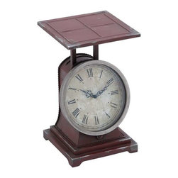 "Benzara - Metal Scale Decor Clock in Classical Style and Charm - Metal Scale Decor Clock in Classical Style and Charm. Fantastically designed like a beautiful metal scale, this clock will bring classical charm to your home setting. It comes with a following dimensions 9""W x 9""D x 14""H."
