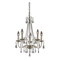 Sterling - Sterling 122-012 Antique Silver Chandelier In Silver / Clear - Sterling 122-012 Antique Silver Chandelier In Silver / Clear