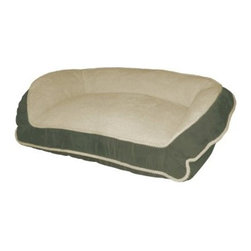 Paws & Claws Deep Seated Lounger - Your furry friend will love to rest and relax in the Paws and Claws Deep Seated Lounger. This pet bed features a wraparound bolster, soft fabric, and a removable zipper cover. Machine washable for easy care.