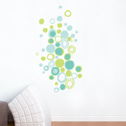 RR - On Sale Turquoise Polka Dots Wall Decal - Turquoise Polka Dots Wall Decal