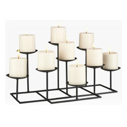 Home Decorators Collection - Nine-Candle Candelabra - Illuminate and enchant your home by adorning any shelf or fireplace with our Nine-Candle Candelabra. Built with bases of varying height, the candelabra adds depth and visual interest to any spare space in your home. Add glamour and glow to any room and order yours now. Metal construction with a black matte finish. No assembly required. Candles not included.