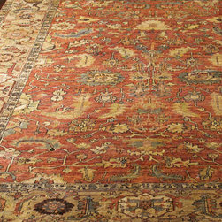 Exquisite Rugs - Exquisite Rugs Thompson Oushak Rug, 4' x 6' - Feel the softness of this hand-knotted rug's antique weave pattern at your feet. Made of New Zealand wool. Imported. NOTE: A special heirloom wash produces the subtle color variations that give Oushak rugs their distinctive antique look; therefore, eac...