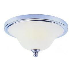 Joshua Marshal - Two Light Polished Chrome White Opal Glass Bowl Flush Mount - Two Light Polished Chrome White Opal Glass Bowl Flush Mount