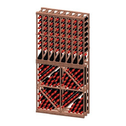 "Vinotemp Rack-8CDB-PR 8 Column / Diamond Bin Combo 128 Bottle Wine Rack - This 8 Column/Diamond bin combination wine rack is specially designed to display wine bottles in multiple views. The top rack section has 8 column display racks that keeps your bottles safely organized individually, as it provides an attractive and functional wine storage area for up to 64 bottles. Its cubicles (3 3/4"") are designed to fit most 750-ml bottles. The bottom rack section has 4 diamond racks to display various bottles of wine up to 64 bottles. Vinotemp never use glue to hold our racks together because it can weaken over time. This wine rack kit is hand made in our Southern California factory and crafted from Premium Redwood, it is ideal for starting or expanding any wine collection. Features: - Premium Redwood - 8 column rack on top with 1 row of display racking - Diamond bin for bottom of wine rack - Universal 3 3/4"" racking fits most bottle sizes - This rack holds all sizes of wine bottles - Bottle capacity: approx. 128 bottles - Dimensions: 35 5/8""W x 12""D x 73 3/8""H"