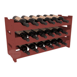 Wine Racks America - 18 Bottle Mini Scalloped Wine Rack Pine, Cherry Stain - Stack three 6 bottle racks with pressure-fit joints for proper storage of 18 wine bottles. This rack requires no hardware for assembly and is ready to use as soon as it arrives. Makes the perfect gift and stores wine on any flat surface.
