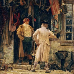 The Bargain 16 x 12.204 Art Print On Canvas - The Bargain by Charles Edouard Delort Size: 16 x 12.204 Art Print Poster. Canvas Transfer stretched and canvas museum wrap. Comes ready to hang. Canvas board is an off white color.