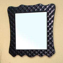 Bellaterra Home - Veneto Black Bathroom Vanity Mirror - Materials: Solid wood (birch) frame/mirrorFinish: BlackSolid wood frame