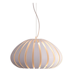 Zuo Modern Contemporary, Inc. - Polar Ceiling Lamp White - Strips of painted metal work together to form a fluid orb of light. The Polar Ceiling Lamp is made of acrylic and painted metal. Hang subtle elegance in your favorite room.