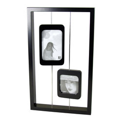 """Boom - Spin Frame (2), 4"""" x 6"""" - Display two of your favorite images in an unexpected way. Each picture frame can spin completely around or be set at whatever angle you desire."""