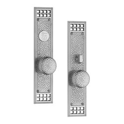 Door Hardware: Entrance Sets - Classic Brass Rustic Knob x Knob Entry Set. Available in other finishes!