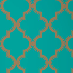 Marrakesh Removable Wallpaper, Honey Jade