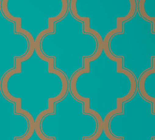 LOLLIPROPS, INC., LPI - Marrakesh, Honey Jade - This iconic pattern evokes the storied romance of Marrakech without leaving your home. You can easily add a bit of bold design and color to any room with this peel-and-stick technology. It's perfect for renters or anyone who likes to play with their home design.