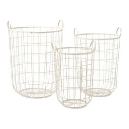 iMax - Dylan Wire Storage Baskets, Set of 3 - The Dylan wire storage baskets are a great way to stay organized. Their different sizes provide the exact amount of storage that you need.