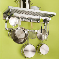 Orginnovations - Orginnovations PegRail Gourmet Pot Rack - 30103.PC - Shop for Pot Racks from Hayneedle.com! All you need for cooking will be right in front of you with the Orginnovations PegRail Gourmet Pot Rack. A lot of space for pots pans sieves and more. Constructed of commercial grade extruded aluminum and available in a variety of finishes this rack fits in every kitchen. Have everything in one place with this practical rack.About Orginnovations Inc.With a vast selection of storage solutions for your closets kitchen office utility room and even your wine collection Orginnovations Inc. looks to provide the best in quality materials design and construction. Their storage solutions are easy to install functional stylish flexible and deliver heavy duty weight capacity. They have excellent customer service and over 40 authorized dealers throughout the US. They even offer custom sizing on closets.