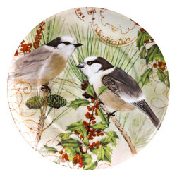 Waechtersbach - Set of 4 Plates Traditions Joy - Create a new holiday tradition with this Christmas dinnerware set. Deck your table in gorgeous, festive charm with Traditions Accent Plates. Made of high-quality porcelain, the Joy Christmas plates bring endless holiday cheer.