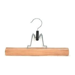 Proman Products - Trouser or Skirt Hanger in Natural Finish - S - Set of 30. Solid wood with felt inside. 11 in. L x 1.25 in. W