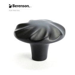 3052-155-P Black Cabinet Knob by Berenson - 1-5/16 inch long artisan style cabinet knob by Berenson in Black.