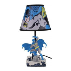 Westland - 16 Inch The Dark Knight Batman Posing Multi-Colored Table Lamp - This gorgeous 16 Inch The Dark Knight Batman Posing Multi-Colored Table Lamp has the finest details and highest quality you will find anywhere! 16 Inch The Dark Knight Batman Posing Multi-Colored Table Lamp is truly remarkable.