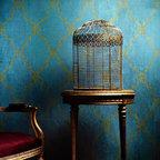Raj Trellis Indian Wall Stencil - Raj Trellis Indian Wall Stencil from Royal Design Studio for walls, furniture, ceiling, floor, and fabric.
