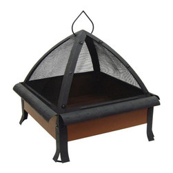 Landmann - 24 In. Tudor Georgia Clay Firebox, Matte Trim Parts - For those clear summer nights or those frosty winter evenings, this square firebox is more than just a back deck aesthetic. It's also a companion to memories made. Doesn't hurt to for making S'mores either.
