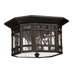 Hinkley Lighting - Stained Glass Tiffany 2 Light Outdoor Ceiling FixtureTahoe Collection - Hinkley Lighting's mission is simple: to bring you cool classics that suit the way you live today.