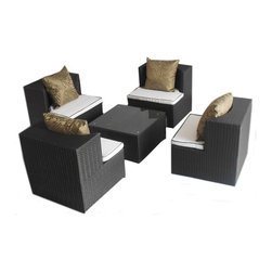 Art Deck Oh© - Geo Cube Weather Resistant Wicker Furniture - All weather stackable wicker outdoor furniture by Art Deck Oh©