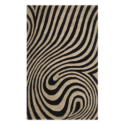 Home Decorators Collection - Twist Area Rug II - Bold graphic designs and botanical elements meet to create the Twist Area Rug from the Metro Collection. This hand-tufted wool area rug features the optical illusion of an animal print, adding sophistication and style, while the black and neutral color scheme works well with lots of decor. Hand-tufted from 100% wool. Durable and resistant to wear and tear.