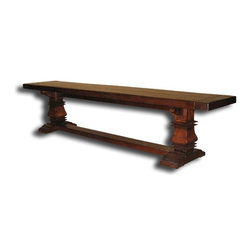 "EuroLux Home - New Bench Italian Tuscan 84"" Consigned Antiqued Plank - Product Details"