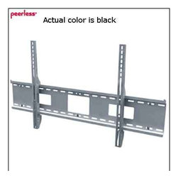 "Peerless - Peerless 42""-71"" Universal Flat Mount Black - The sturdy SF670 wall plate holds screens weighing up to 250 lb while featuring junction box access ports and horizontal screen adjustment up to 8"" for ideal screen positioning. Its easy-glide brackets enable quick screen-to-mount attachment with a simple  Fits screens with mounting hole patterns up to 35.75"" W and 19.8"" H