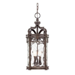 Minka-Lavery - Minka-Lavery Regal Bay 3-Light Outdoor Chain Hung - 9224-256 - This 3-Light Hanging Lantern has a Black Finish and is part of the Regal Bay Collection.